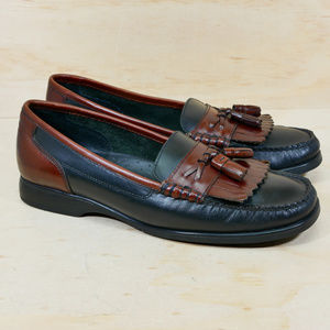 Bass Weejens Setta Brown Black Loafers